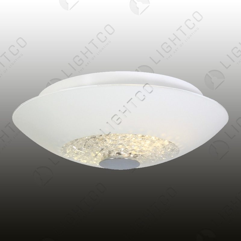 CEILING LIGHT ROUND WITH CLEAR CRYSTALS LARGE