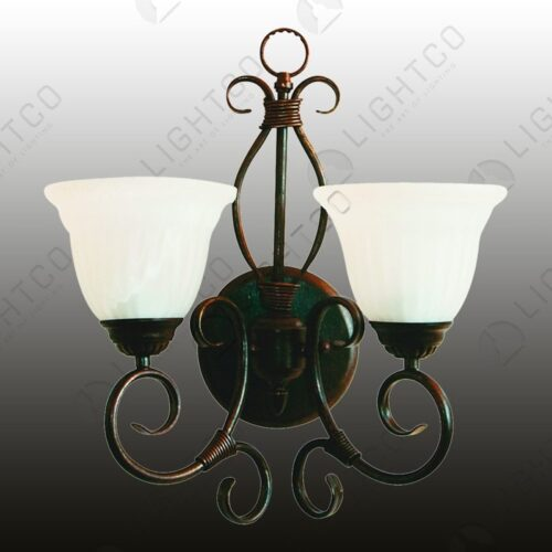 WALL LIGHT DOUBLE WITH ALABASTER GLASSES