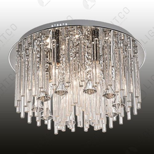 CEILING LIGHT GLASS AND CRYSTAL