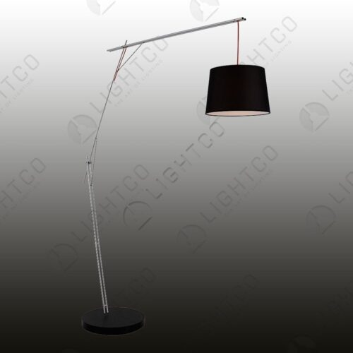 FLOOR LAMP CANTILEVER WITH BLACK SHADE