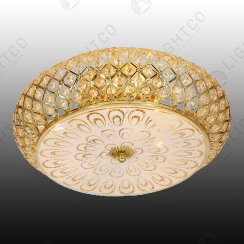 CEILING FITTING GOLD FROSTED GLASS