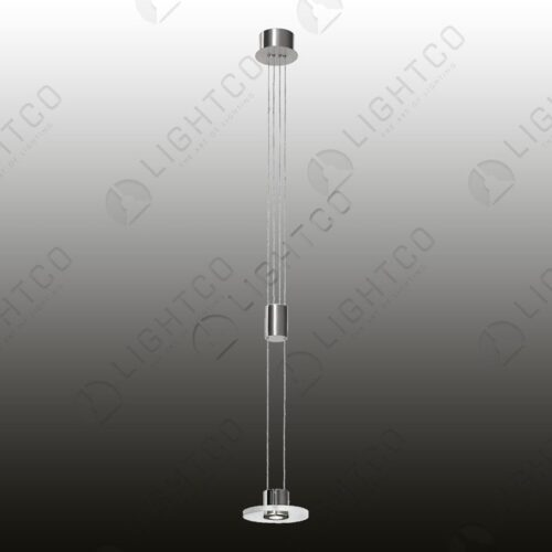 PENDANT LED GLASS DISC RISE & FALL ROUND