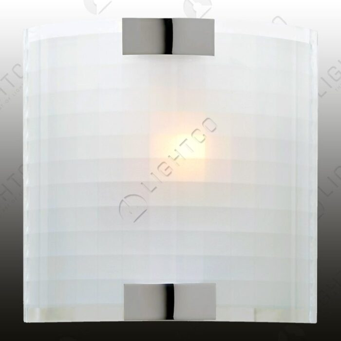 WALL LIGHT SQUARE RIPPLE ON GLASS
