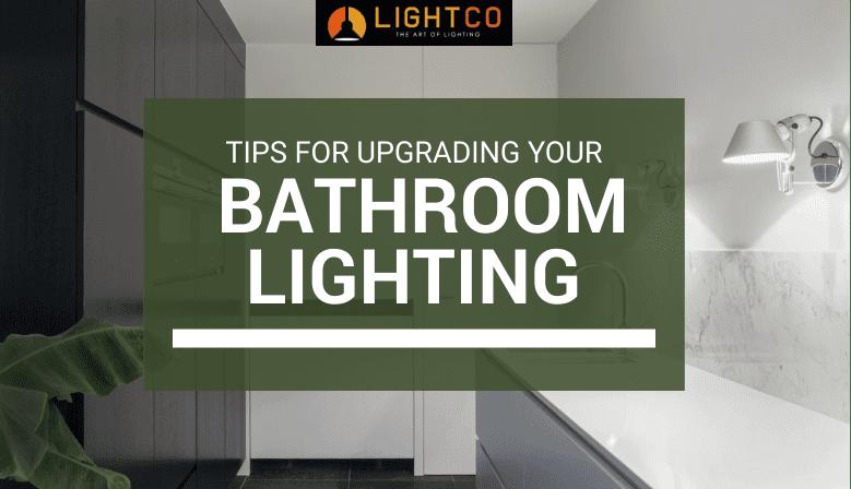 well-lit designer bathroom interior