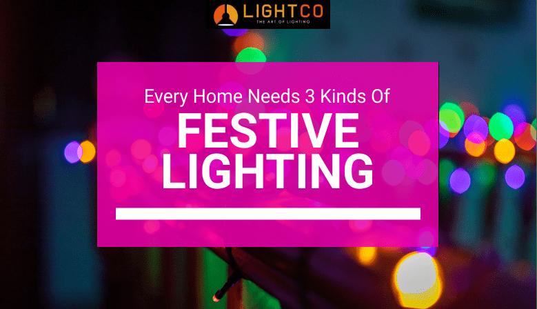 Multi-coloured string lights on deck